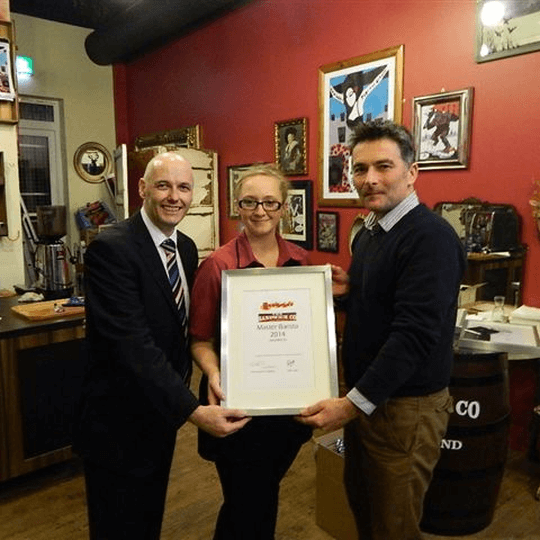 Erin Higgins wins Master Barista title with the Sandwich Company