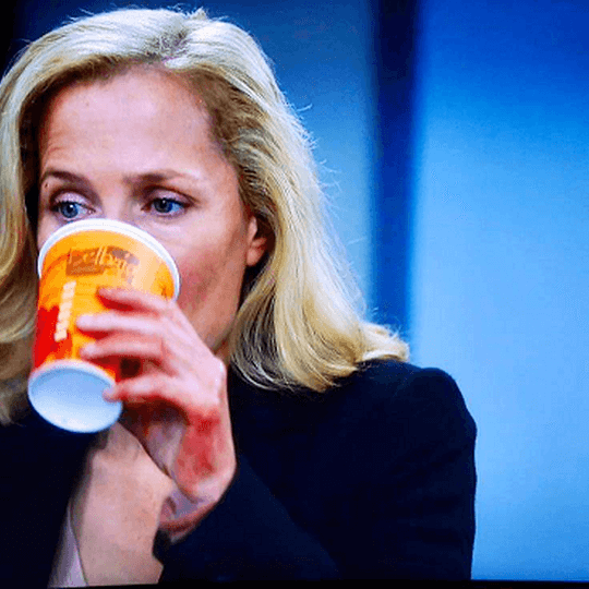 Gillian Anderson falls for Johnsons Coffee
